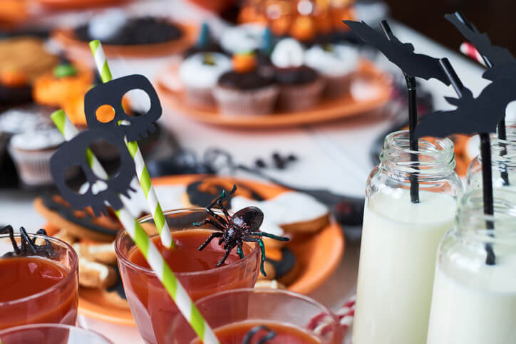 a halloween party table