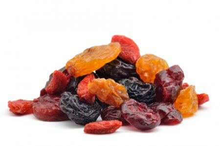 a pile of dried fruit