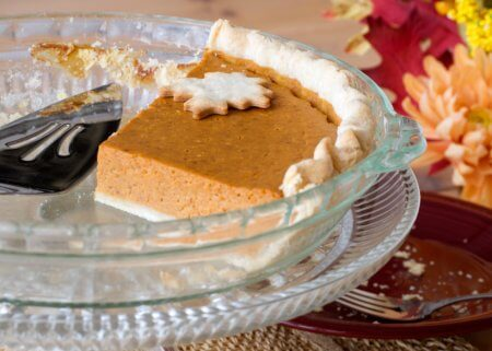leftover pumpkin pie