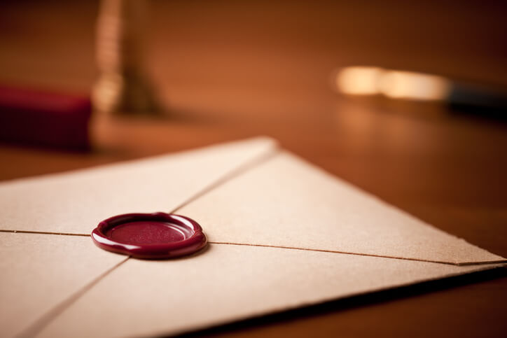 an opened envelope