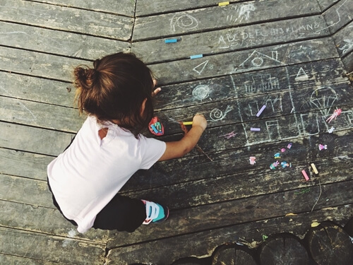 How To Use Chalk Art in Your Toddler Photos