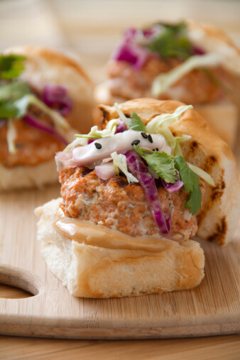 Grilled Asian Spiced Salmon Sliders