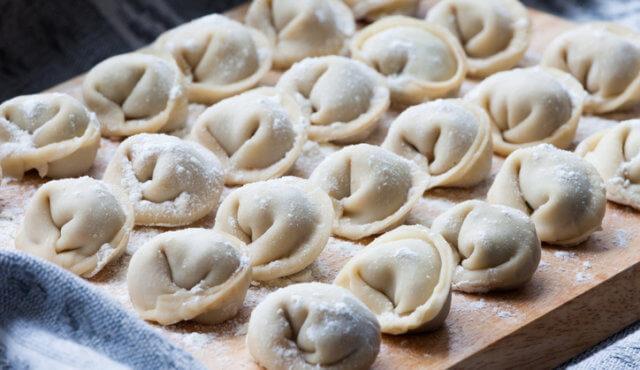 Russian real homemade dumplings