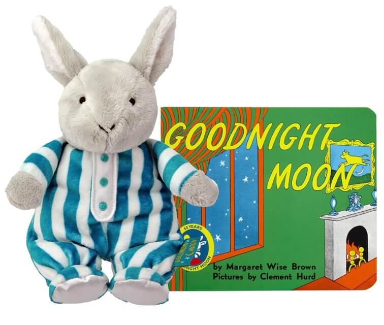 """Goodnight Moon"" Board Book and Bunny"