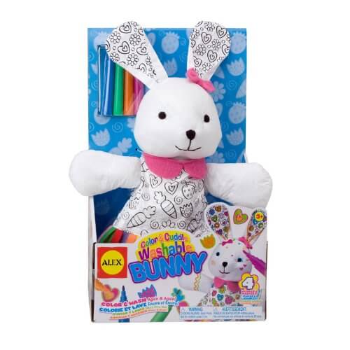 ALEX Toys Color and Cuddle Washable Bunny