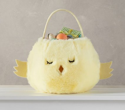 yellow fluffy basket