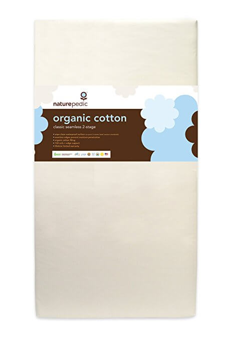 Lightweight Organic Cotton Classic 2-Stage Crib Mattress