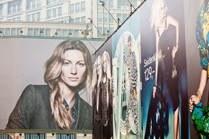 Gisele on a billboard