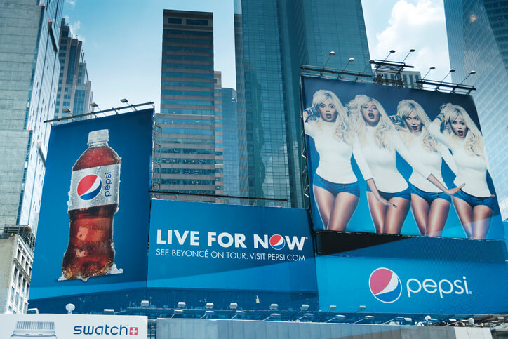 Pepsi billboards at Times Square