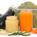 a selection of baby food ingredients