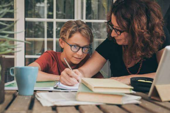 Juggling working from home and homeschooling requires a flexible, but structured schedule.
